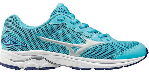 Mizuno Kid's Wave Rider 20 (GIRLS) - Blue Atoll/Silver/White (410872.5Z73)