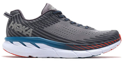 Hoka One One Men's Clifton 5 Wide (2E) - Frost Gray/Ebony (1093757-FGEB)