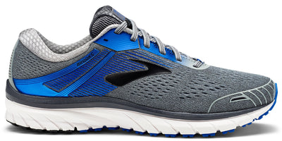 Brooks Men's Adrenaline 18 Wide (2E) - Grey/Blue/Black (1102712E015)