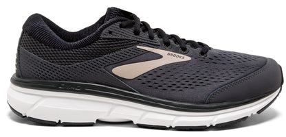 Brooks Men's Dyad 10 Extra Wide (4E) - Grey/Black/Tan (1102864E082)