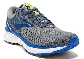 Brooks Men's Ghost 11 Wide (2E) - Grey/Blue/Silver (1102882E006)