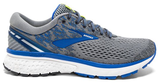 Brooks Men's Ghost 11 Narrow (B) - Grey/Blue/Silver (1102881B006)