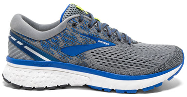 Brooks Men's Ghost 11 Extra Wide (4E) - Grey/Blue/Silver (1102884E006)