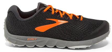 Brooks Men's PureGrit 7 - Black/Orange/Grey (1102911D069)