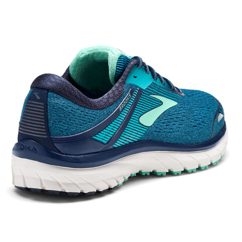 Brooks Women's Adrenaline 18 Wide (D) - Navy/Teal/Mint (1202681D495)