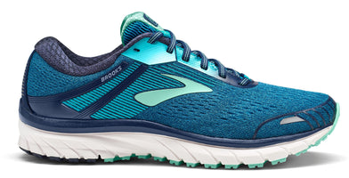 Brooks Women's Adrenaline 18 Narrow (2A) - Navy/Teal/Mint (1202682A495)
