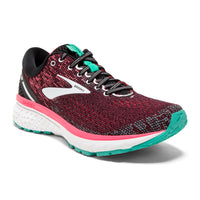 Brooks Women's Ghost 11 Wide (D) - Black/Pink/Aqua (1202771D017)