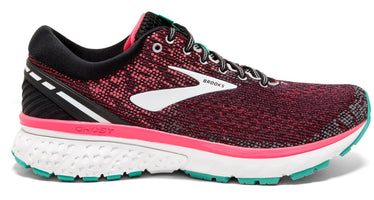 Brooks Women's Ghost 11 Narrow (2A) - Black/Pink/Aqua (1202772A017)