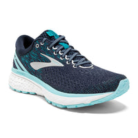 Brooks Women's Ghost 11 Wide (D) - Navy/Grey/Blue (1202771D493)