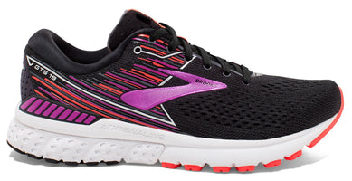 Brooks Women's Adrenaline GTS 19 Narrow (2A) - Black/Purple/Coral (1202842A080)