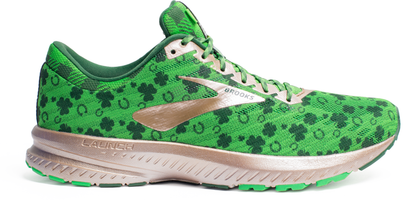 Brooks Womens Launch 6 Running Shoe St. Patrick's Day St. Pattys Shamrock Shoe 1202851B349
