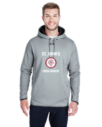 UA MENS DOUBLE THREAT HOODIE - TS-STJOHNS-1295286-GRAY HEATHER