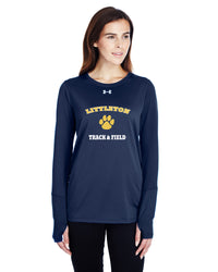 UA LADIES LS TEE - TS-LITTLETON-1305681-NAVY-NAVY