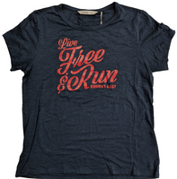 Runner's Alley Women's Live Free Short Sleeve Tee - Classic Navy (TW587S-416)
