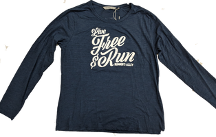 Runner's Alley Women's Live Free Long Sleeve Tee - Classic Navy (TW599S-416)