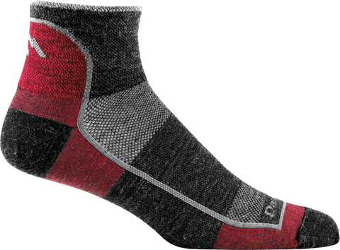 Darn Tough Men's 1/4 Ultra Light Running Sock - Team DTV (1715-TEAM DTV)