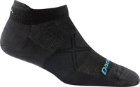 Darn Tough Women's Coolmax Vertex No Show Tab Ultra-Light Running Socks - Black (1763-Black)