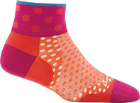 Darn Tough Women's Dot 1/4 Ultra-Lightweight Running Socks - Coral (1784)