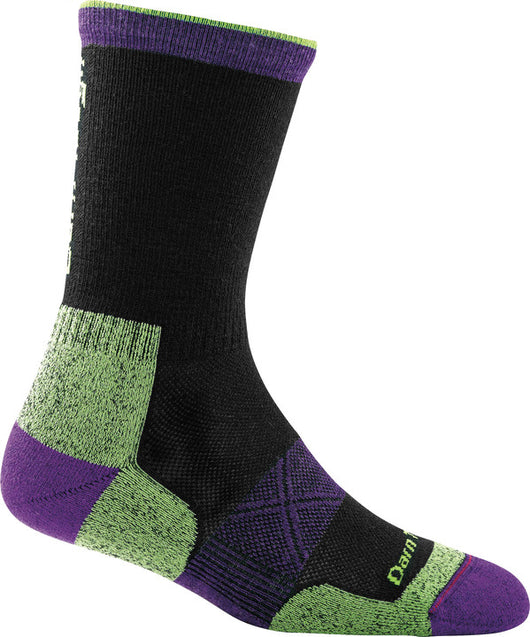 Darn Tough Women's Vertex Micro Crew Ultra-Light Cushion Running Sock - Black (1794-BLACK)