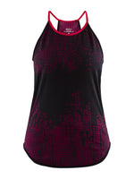 Craft Women's Core Fuseknit Singlet - Black/Jam (1907029-999735)