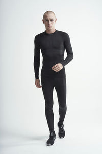Craft Men's Active Intensity Crewneck Baselayer - Black/Asphalt (1907933-999995)