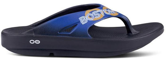Oofos Unisex 2019 Boston Edition Original Thong - Black/Blue (1001-19SMU)