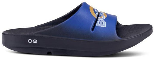 Oofos Unisex 2019 Boston Edition Ooahh Slide - Black/Blue (1500-19SMU)