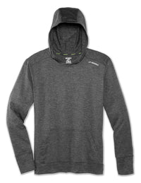 Brooks Men's Dash Hoodie - Heather Asphalt (211161020)