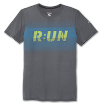 Brooks Men's Distance Graphic Tee - Heather Asphalt/Digital Run (211232076)