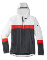 Brooks Men's Canopy Jacket - Ash/Asphalt/Lava (211240039)