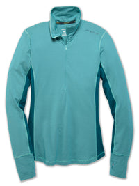 Brooks Women's Dash 1/2 Zip - Pool/Ocean Stripe/Ocean (220977392)