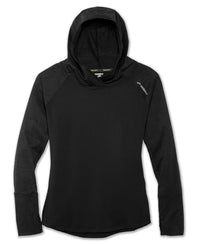 Brooks Women's Dash Hoodie - Black/Heather Black (221284016)