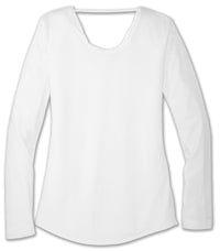 Brooks Women's Distance Long Sleeve - White (221343100)