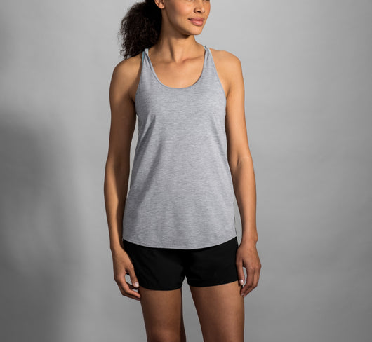 Brooks Women's Distance Tank - Heather Ash (221345080)