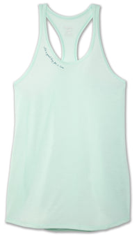 Brooks Women's Distance Graphic Tank - Mint/Good Day (221369315)