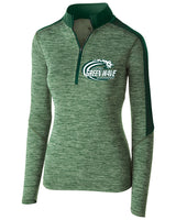 Marshfield Women's Team 1/4 zip - (TS-MARSH-222742-FOREST HEATHER)