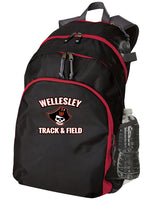 WELLESLEY T&F TEAM BACK PACK - TS-WEL-229009-BLACK SCARLET GRAPHITE -