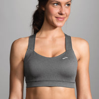 Brooks Uplift Crossback Sports Bra - Heather Grey (300616-020)