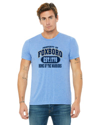 BELLA + CANVAS UNISEX T SHIRT - CAN-FOXBORO-3413C-BLUE TRIBLEND