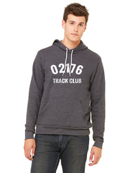 Unisex 02176 Track Club Fleece Lined Hoodie - Heather Dark Grey