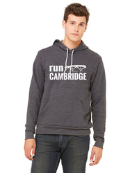 Unisex RUN CAMBRIDGE Fleece Hoodie - Heather Dark Grey (TS-RUNCAM-3719HDG)