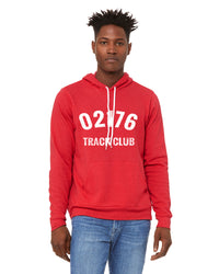 Unisex 02176 Track Club Fleece Lined Hoodie - Heather Red