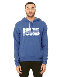 Unisex Run the Sound Fleece Lined Hoodie - Heather True Royal (TS-RUNTHESOUND-3719HTR)