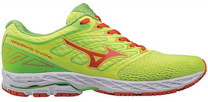 Mizuno Men's Wave Shadow - Safety Yellow/Red Orange/Jasmine Green (410940.301W)