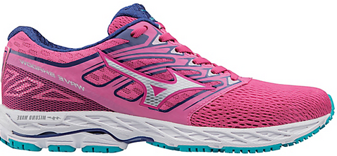 Mizuno Women's Wave Shadow - Fuchsia Purple/Silver/Tile Blue (410941.2I73)