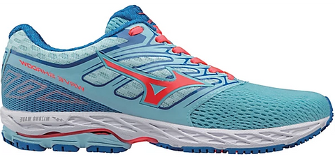 Mizuno Women's Wave Shadow - Blue Topaz/Fiery Coral/Imperial Blue (410941.5M1Z)