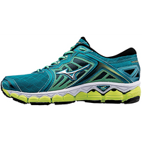Mizuno Women's Wave Sky - Tile Blue/Silver/Safety Yellow (410943.5973)
