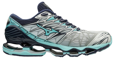 Mizuno Women's Wave Prophecy 7 - Silver/Aqua Splash (410969.734Q)