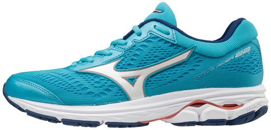 Mizuno Women's Wave Rider 22 - Blue Atoll/Georgia Peach (410990.5Z17)