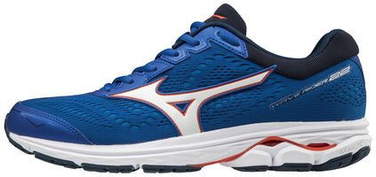 Mizuno Men's Wave Rider 22 - Nautical Blue/Cherry Tomato (410991.NB1T)